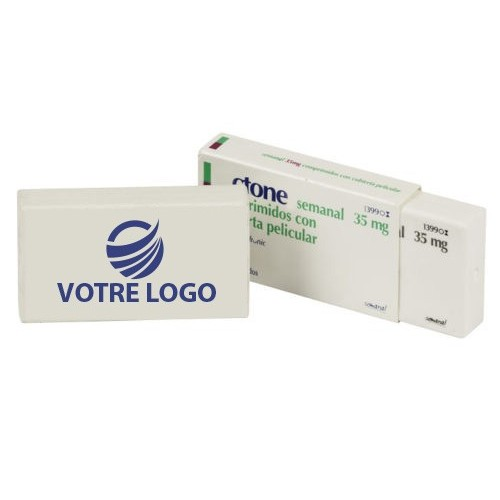 Gomme pharma Gomme publicitaire rectangle