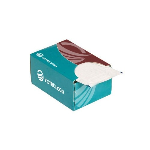 Distributeur de lingettes personnalisées Lingettes publicitaires