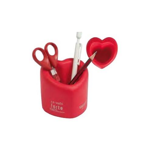 Pot à crayons forme cœur Idée cadeau cardiologue