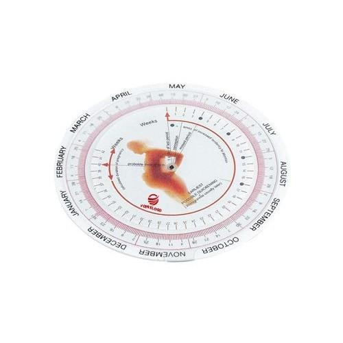 Disque calculateur d'accouchement 108 Cadeau gynécologue