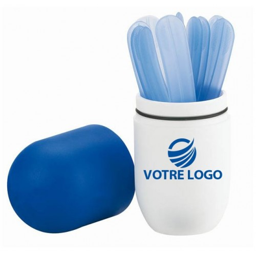Pot à stylos publicitaire gélule Abaisse-langues publicitaire