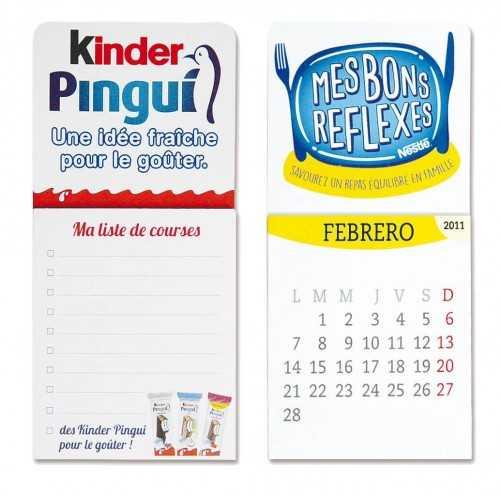 Magnet publicitaire Bloc notes Magnets publicitaires