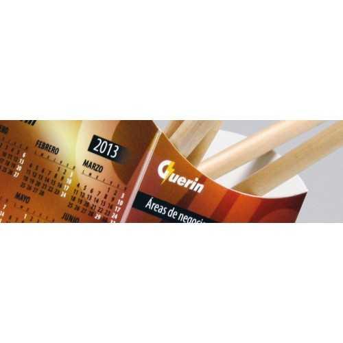 CALENDRIER GOBELET RECTANGULAIRE Calendrier plastique publicitaire