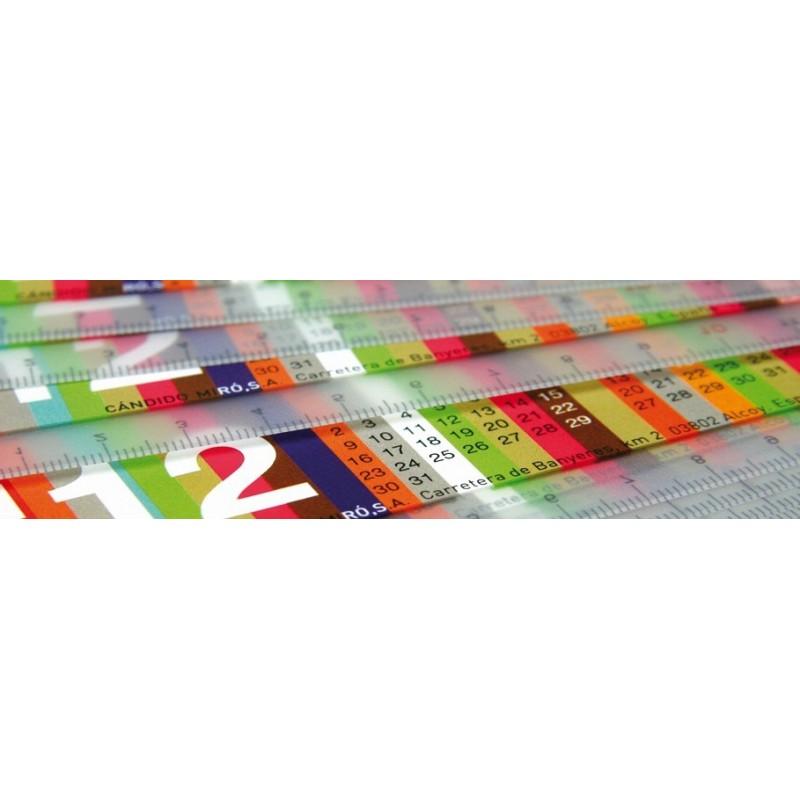 Calendriers publicitaires Règle publicitaire avec calendrier