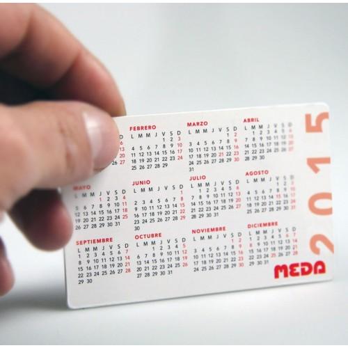 CALENDRIER DE POCHE Calendrier plastique publicitaire