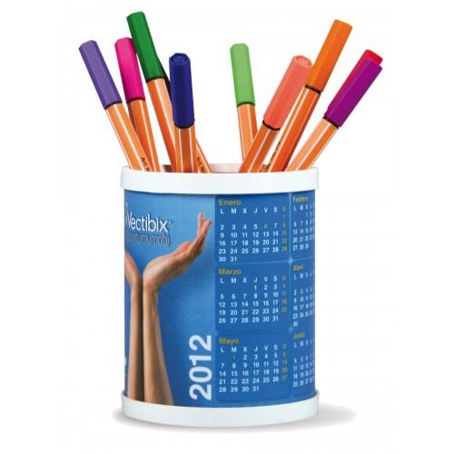 Pot à stylos publicitaire rond Calendrier plastique publicitaire