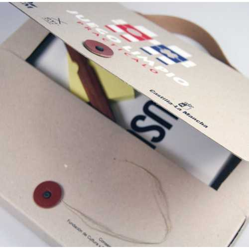 Valisette carton recyclé Porte documents