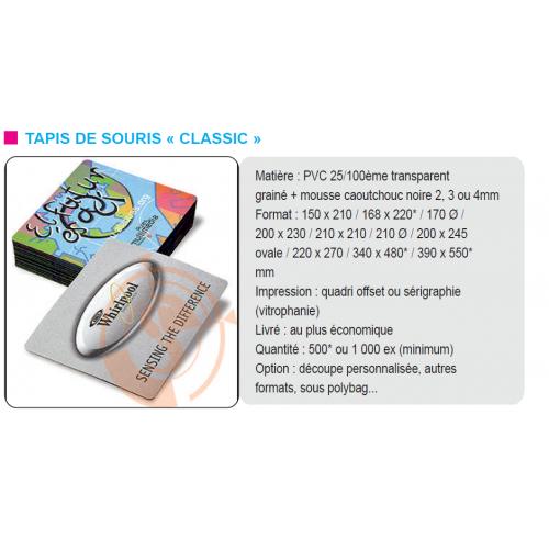 Tapis de souris classic Tapis souris publicitaire