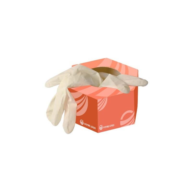 Gants et masques Gants latex en boîte hexagonale