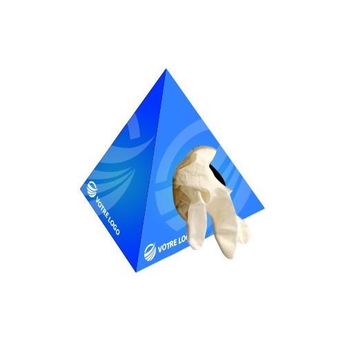 Boîte de gants latex pyramidale Gants médicaux publicitaires
