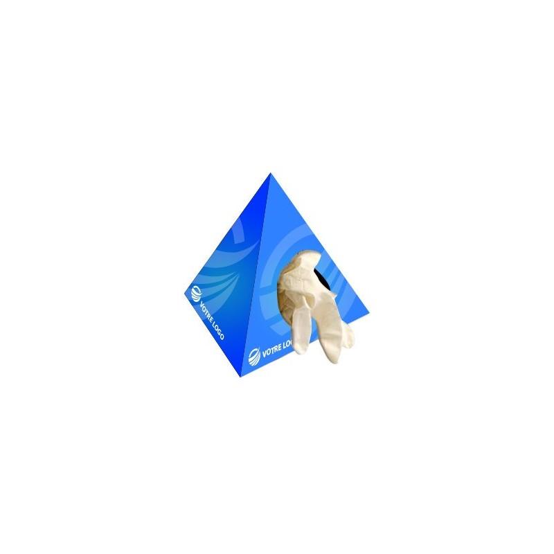 Gants et masques Boîte de gants latex pyramidale