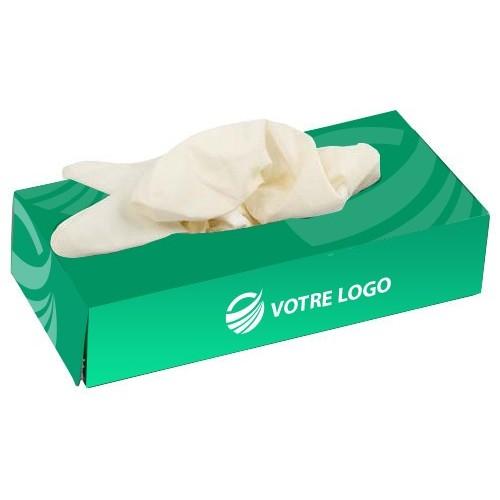Gants latex en boîte publicitaire Gants médicaux publicitaires