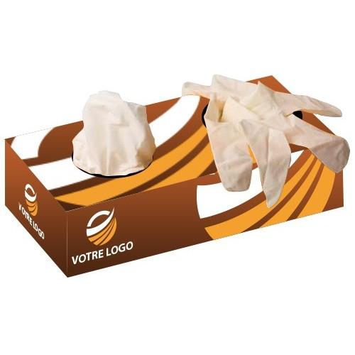 Boîte publicitaire mouchoirs et gants Gants médicaux publicitaires