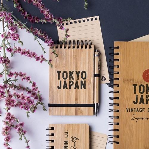 Cahier Bambou écologique TUMIZ Blocs-notes publicitaires