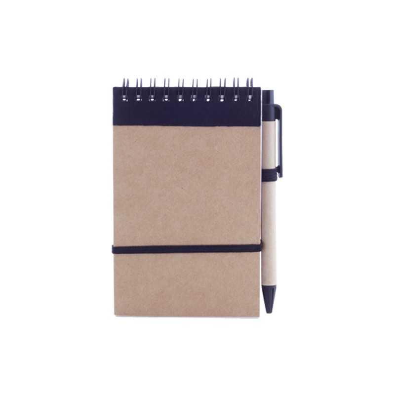 Cahier publicitaire ecocard Bloc-notes avec stylo