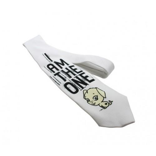 Cravate blanche personnalisée Ceinture et cravate