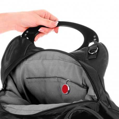 Porte-sac porte-clés publicitaire lysia Accroche sac publicitaire
