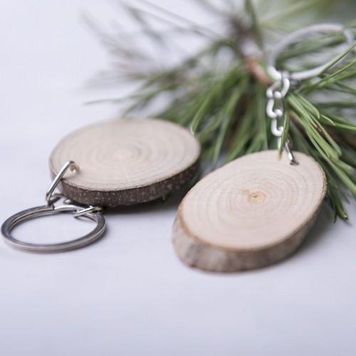 Porte clés en Bois personnalisé Porte-clés publicitaires
