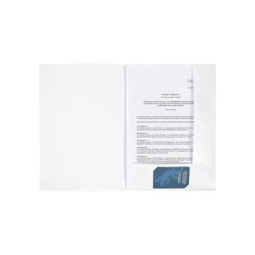 Pochette à Rabat plastique personnalisable Porte documents en plastique