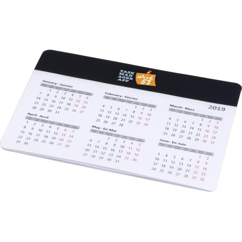 Tapis souris calendrier publicitaire aplix Tapis souris publicitaire
