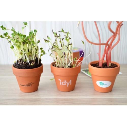 Kit de Plantation personnalisable Pot de fleurs publicitaire