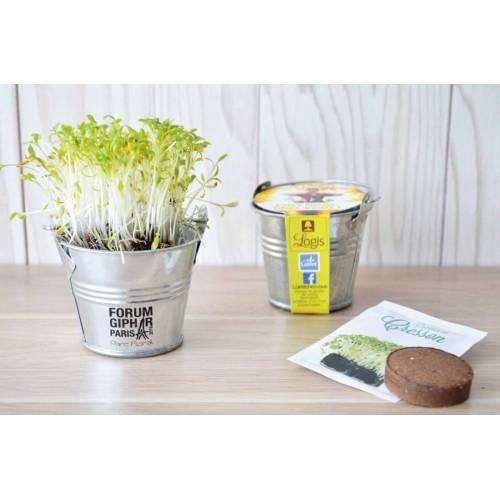 Plante Pot Zinc Pot de fleurs publicitaire