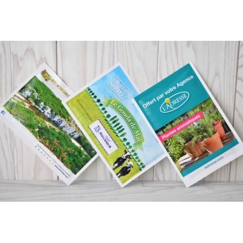 Sachet graines personnalisables Pot de fleurs publicitaire