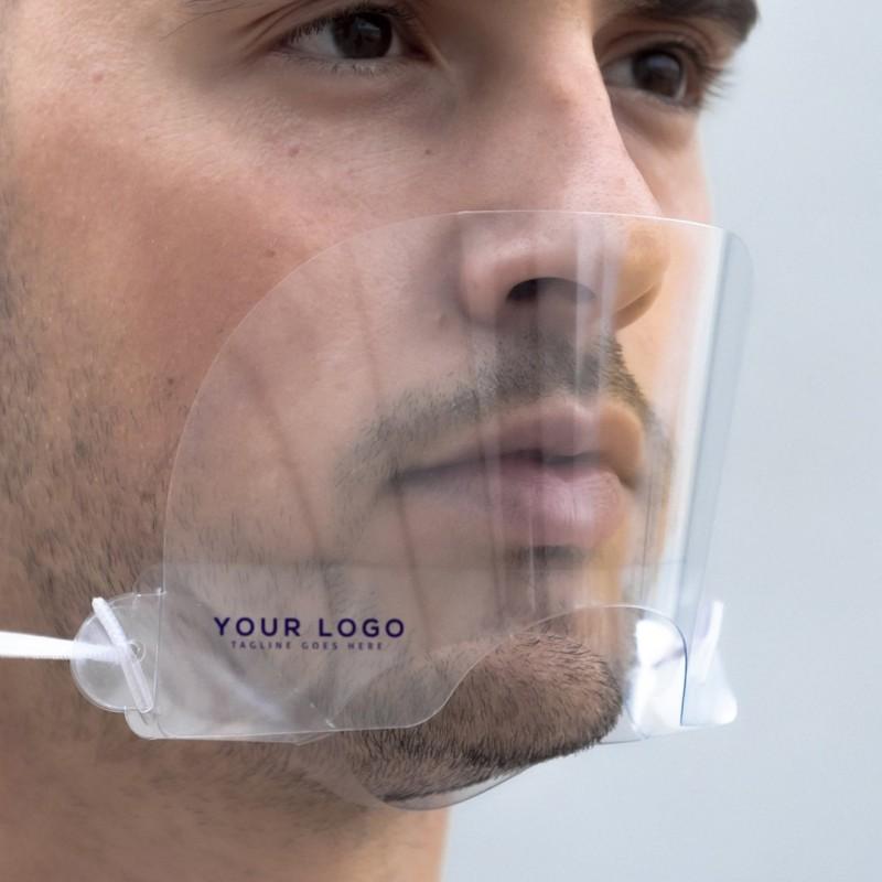 Masque en plastique transparent OBJETS PUBLICITAIRES