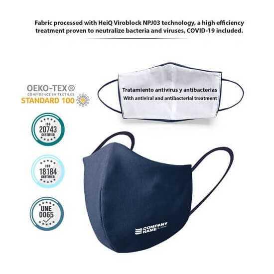 Masque protection personnalisée Coton EQUIPEMENTS DE PROTECTION INDIVIDUELLE