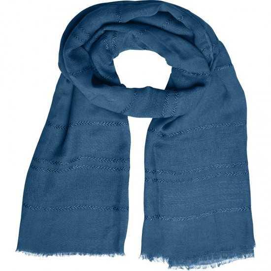 Echarpe tricot rayures contrastées Écharpe publicitaire