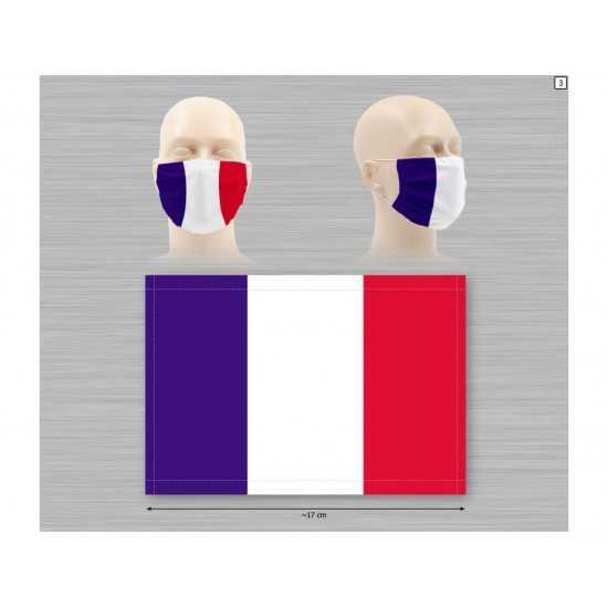 Masque Tissu Bleu Blanc Rouge EQUIPEMENTS DE PROTECTION INDIVIDUELLE