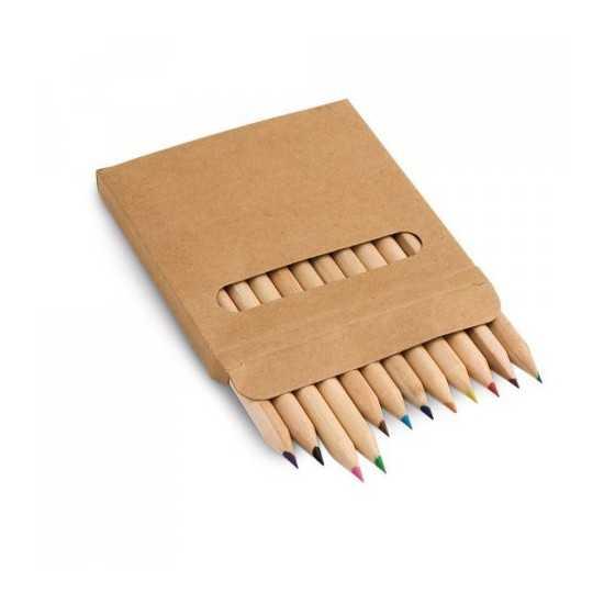Boîte avec 12 crayons de couleur COLOURED Boite crayon de couleur personnalisé