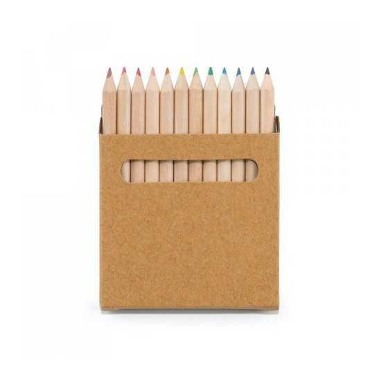 COLOURED. Boîte avec 12 crayons de couleur (91747) Boite crayon de couleur personnalisé