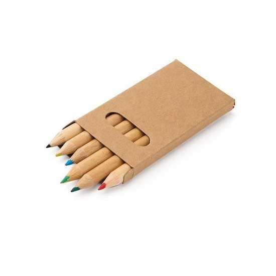 Boîte avec 6 crayons de couleur BIRD Boite crayon de couleur personnalisé