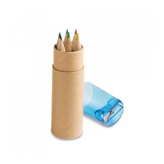 Boîte avec 6 crayons de couleur ROLS Boite crayon de couleur personnalisé