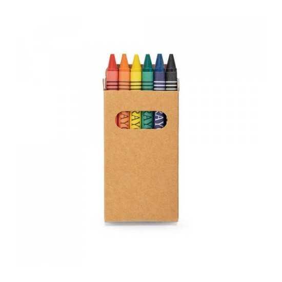 Boîte avec 6 crayons de cire EAGLE Boite crayon de couleur personnalisé