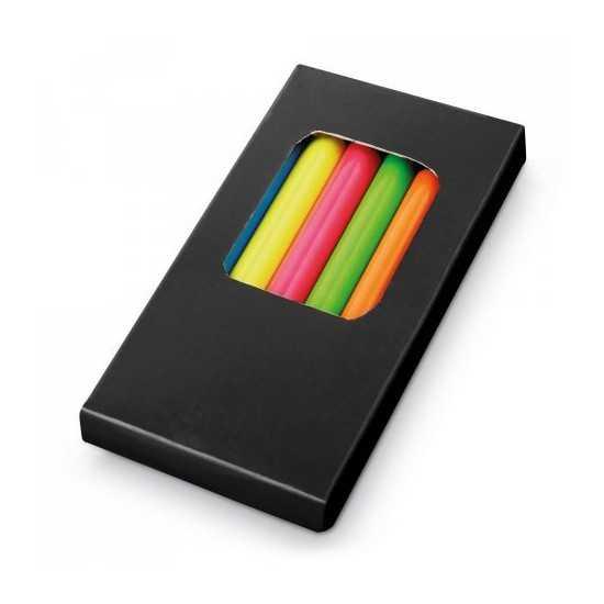Boîte 6 crayons de couleur FLUORESCENTS Boite crayon de couleur personnalisé