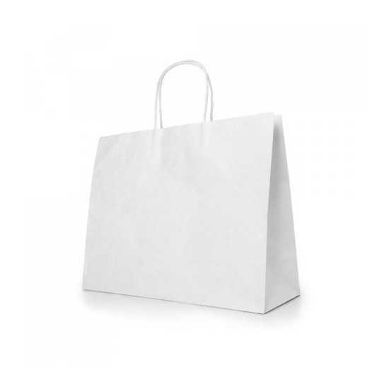 Sac papier Kraft blanc KELLY Sac Papier KRAFT personnalisé
