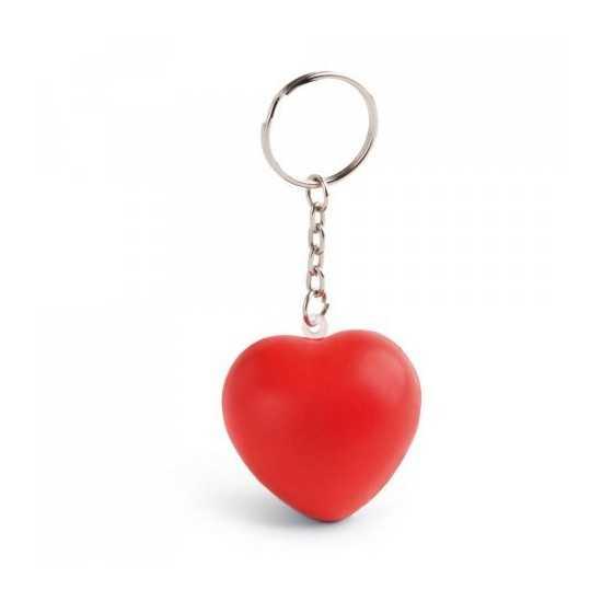 Porte-clés anti-stress en forme de coeur HEARTY Anti stress publicitaire