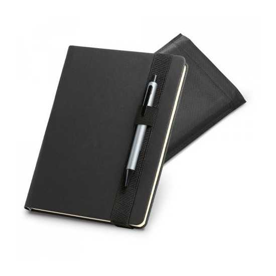Bloc-notes A5 simili cuir support stylo SHAKESPEARE Bloc-notes avec stylo