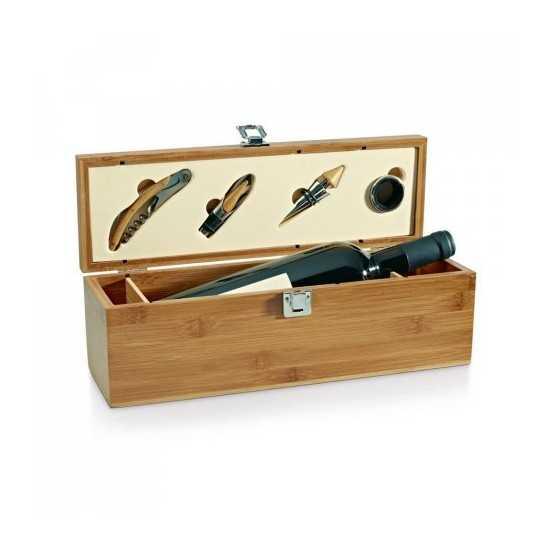 Set a vin bambou et zinc Accessoires vin