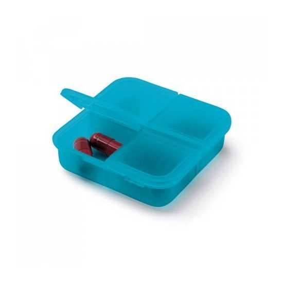 Pilulier 4 compartiments couleur Pilulier publicitaire