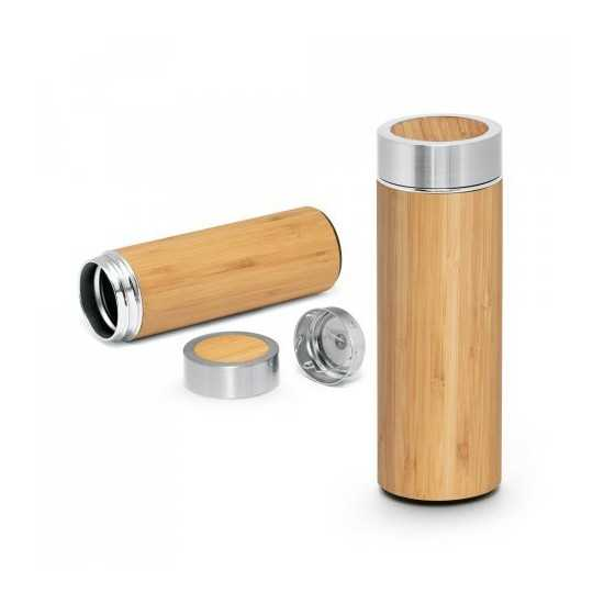 Bouteille infuseur bambou Thermos personnalisé