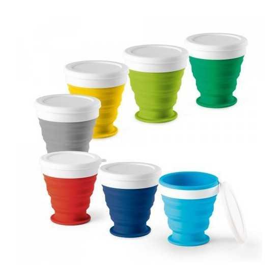Verre de voyage pliable 250 ml Mug de voyage personnalisé