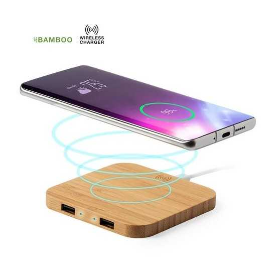 Chargeur induction bambou HIGH TECH