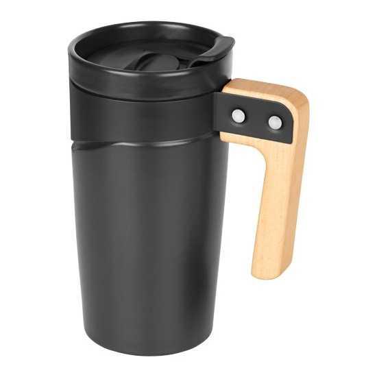 Mug céramique poignée en bois Mug de voyage personnalisé