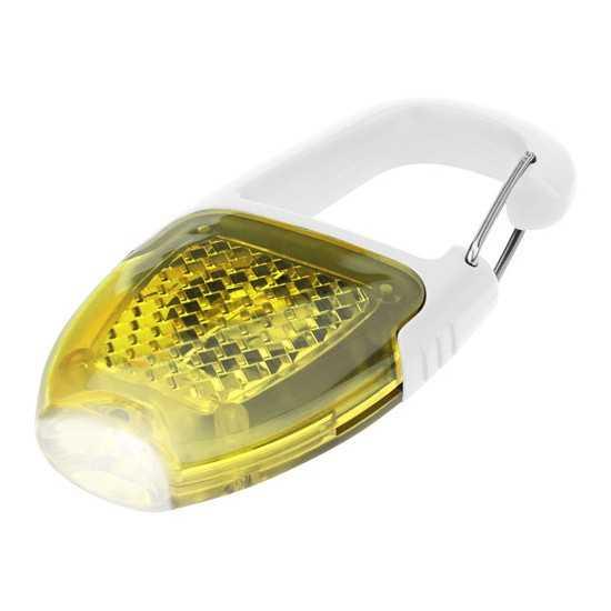 Porte clé mousqueton avec catadioptre LED Reflect-or Porte-clés lampe