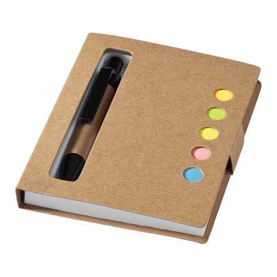 Bloc-notes avec mémos autocollants colorés et stylo Reveal Bloc-notes avec stylo