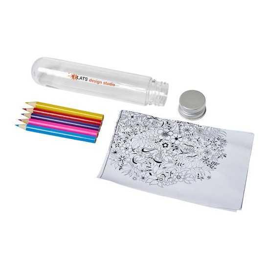 Mini set de griffonnage dans un tube Cami Kit coloriage personnalisé