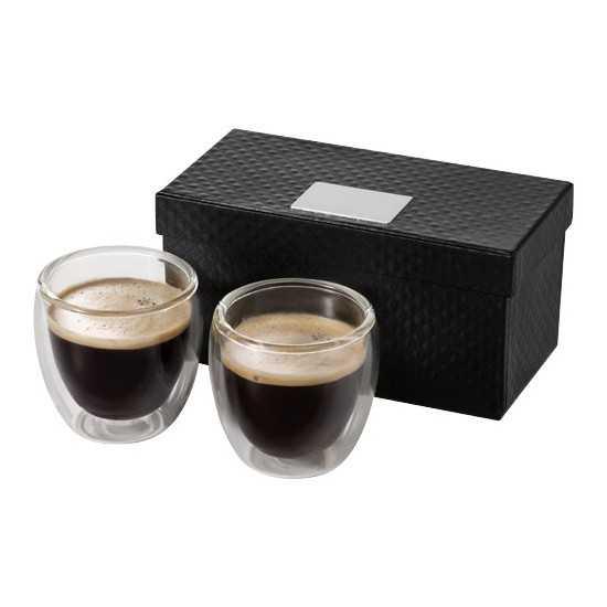 Ensemble de verres à espresso 2 pièces Boda Tasse a cafe personnalisé